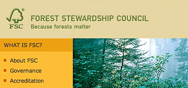 Forest Stewardship Council web design