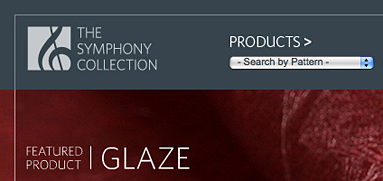 The Symphony Collection web design