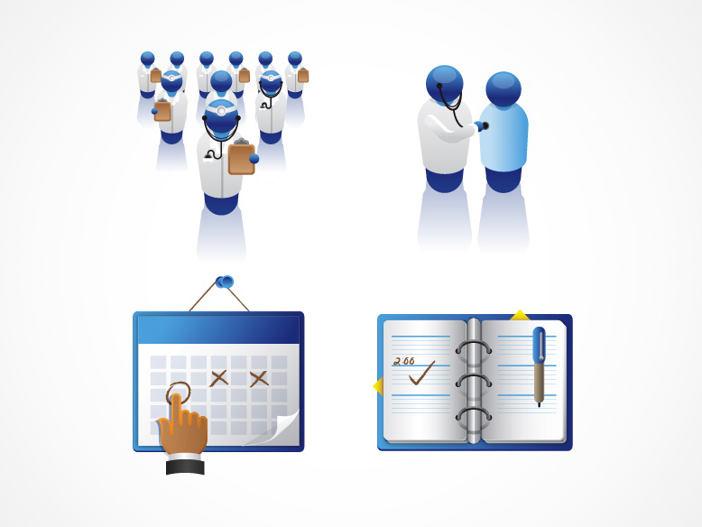 Spot illustrations for Healthleap website