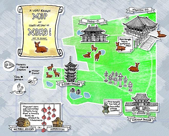 Nara Tourist Map - Nara Japan • mappery